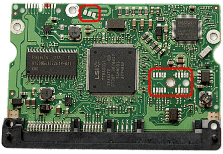 PCB disque dur en panne