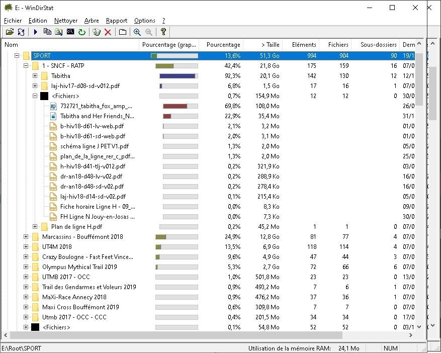 Contenu reel disque ntfs